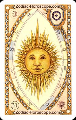 The sun, monthly Love and Health horoscope November Cancer