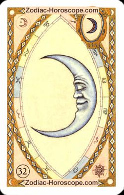 The moon astrological Lenormand Tarot