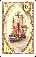 The ship astrological Lenormand Tarot