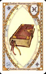 The book astrological Lenormand Tarot