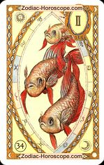 The fish astrological Lenormand Tarot