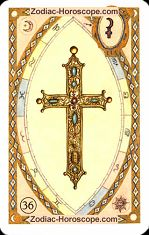 The cross astrological Lenormand Tarot