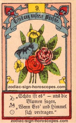 The bouquet antique Lenormand Tarot